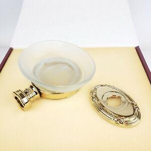 NEW Baldwin Edinburgh Polished Brass & Glass Wall Mount Soap Dish 3706.030