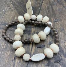 Barse Fresh Earth Stone Stretch Bracelets- Set Of 2-Mixed Stones-Copper-NWT