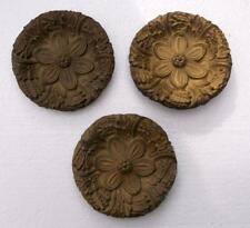 3 Antique French circulaire bronze meubles embellissements