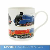 Mens Classic Boxed Mug Locomotive Steam Train Leonardo Novelty Collectors Mug