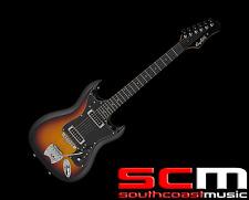 Hagstrom HSHII3SB HII Retro 3 tone Sunburst Roller Bridge Electric Guitar