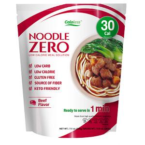 Caloless Noodle Zero Low Calorie Healthy Konjac Noodle Beef Flavour 30 Cal ONLY