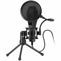 Double Layer Studio Microphone Holder Mic Wind Screen Mask Spray shield+ Tripod