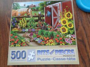 Bits & Pieces 500 Piece 18''x24''  Veggie Garden Visitors Jigsaw Puzzle