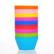 NEW 7*4*3.4cm 12pcs/lot Cupcake Baking Cups Cases Flower Liners Cake Mix Colors