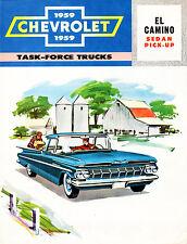 1959 El Camino Sedan Pickup Ad From Dealership Showroom Wall 8 x 10 Giclee Print