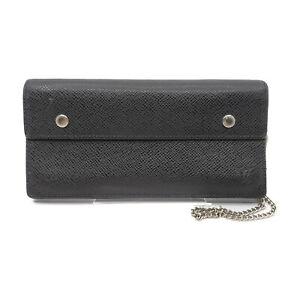 Louis Vuitton LV Long Wallet Portefeuille Accordion M30992 Black Taiga 1423935