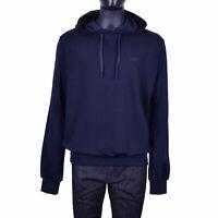 DOLCE & GABBANA Hoody Sweatshirt Jacket with DG Logo Blue 07170