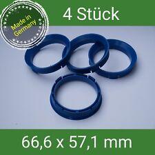 FZ 60 Zentrierringe blau 66,6 x 57,1 VW AUDI SEAT SKODA MERCEDES
