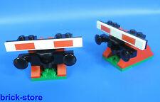 LEGO FERROVIA Fermata di Tampone nr. 5 / rosso con tampone / 2 pezzi