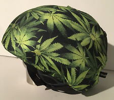 Ski & Sport Helmet cover by Shellskin. Green/Black MaryJane print Spandex.1 Size