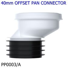 "PP0003/A viva 40mm offset rigide polypropylène easi-fit wc pan connecteur tuyau 4"""
