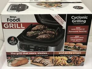 NEW Ninja Foodi 5-in-1 Indoor Grill Air Fry Roast Bake Dehydrate, AG302