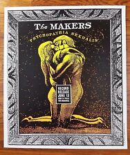 The Makers 1998 Record Release Poster Crocodile Café by Art Chantry