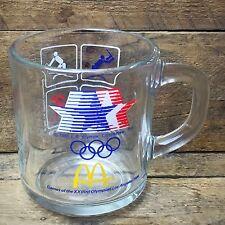 McDonald's 1984 Los Angeles Summer Olympics Clear Glass Mug
