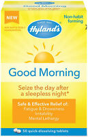 Jet Lag Homeopathic Relief Remedy Tablets by Hyland's Good Morning Quick Diss...