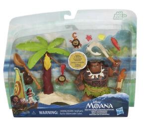 Disney Moana Maui Demigods Kakamora Adventure Figures Zipline Catapult Playset