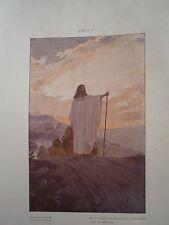 Gravure Jésus et ses disciples composition de Georges Rochegrosse religion