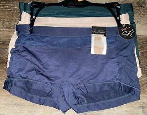 Prima Valentina ~ 3-Pair Womens Boyshorts Underwear Panties Rayon Blend ~ XL