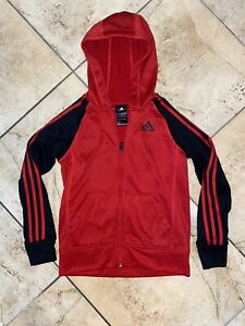 Boys Adidas Red And Black Hoddie - M 10/12