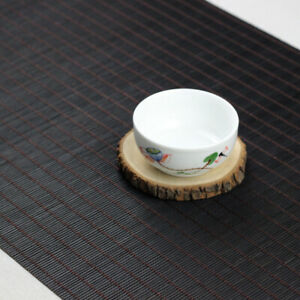 Black Tea Flag Table Runner Bamboo Tablecloth Insulation Placemat Kitchen Mat