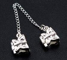 Silver PLATED Butterfly Stopper Safety Chain Bead Fit Charm Bracelet New DIY