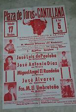 CARTEL PLAZA DE TOROS DE CANTILLANA 1ª DE 15 BECERRADA 1992  115x77 Centimetros