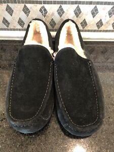 Men's UGG Black Ascot Slippers- size 12- #1101110