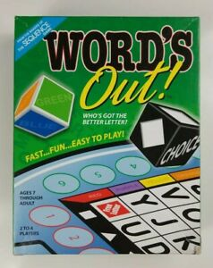 WORDS OUT Board Game Fast Fun Easy to Play 2011 Jax Ltd