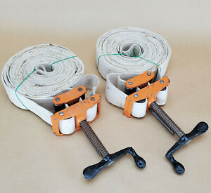 """Lot of 2 JORGENSEN PONY CANVAS BAND CLAMPS 6225 2""""x25' STRAP"""