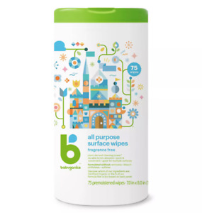 Babyganics Fragrance Free All Purpose Surface Wipes 75 ct