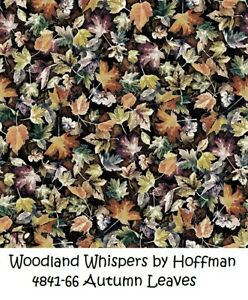 Woodland Whispers Autum Leaves Cotton Quilt Fabric by Hoffman 4841-66