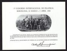 Barcelona Souvenir Card 1960