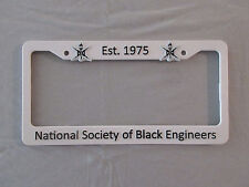 NSBE LICENSE PLATE FRAME - NATIONAL SOCIETY OF BLACK ENGINEERS