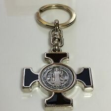 St Benedict Black and Nickel Celtic Maltese Keychain Italy