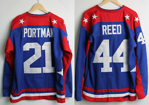 Custom Mighty Ducks USA 21 Dean Portman 44 Fulton Reed 96 Charlie Conway Sewn