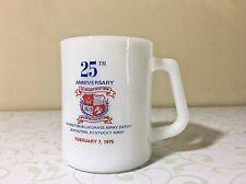 Vintage Advertising Coffee Mug KY Bluegrass Army Depot 1975 Federal Milk Glass