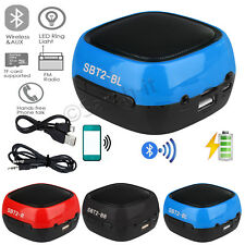 Bluetooth 3.0 Wireless Mini Portable Stereo Super Bass Speaker USB/TF/FM Radio