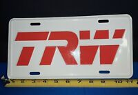 Nice Vintage TRW Manufacturing Employee Advertising Metal License Plate