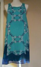 Max Studio Floral-Print Sleeveless Trapeze Fully Lined Dress Size S sale