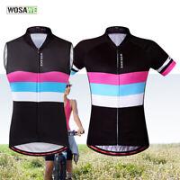 Ladies Cycling Vest Sleeveless Short Sleeve Jersey MTB Bike Riding Sports Tops