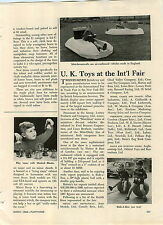 1968 PAPER AD Article Toy Mini Hovercraft Hatton & Bass of London
