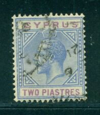 CYPRUS 79 SG92 Used 1921-23 2pi blue & purple KGV Wmk Mult Script CA Cat$25