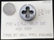 "M10 x 1.5mm Metric split die 1 3/16"" OD made by Hall Tools England"