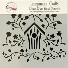 Imagination Crafts Folk Bird House stencil