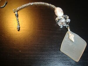 Sea Glass Beach Glass Ceiling Fan Pull Chain Light/Lamp Pull