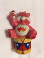 Pink Care Bear LOVE A LOT Ceramic Christmas Ornament 1983 Drummer