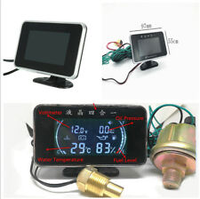 12V/24V Car Truck Water Temperature/Oil Pressure/Fuel/Voltage Gauge w/Sensor Set
