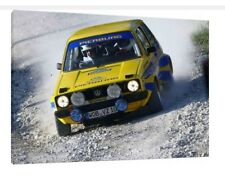 VW Golf MK1 Gti 30x20 Inch Canvas - Volkswagen Framed Picture Poster Rally