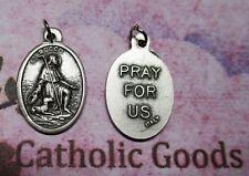 Saint St. Rocco (Roch)  - Pray for Us - Ox Italian Silver tone 1 inch Medal